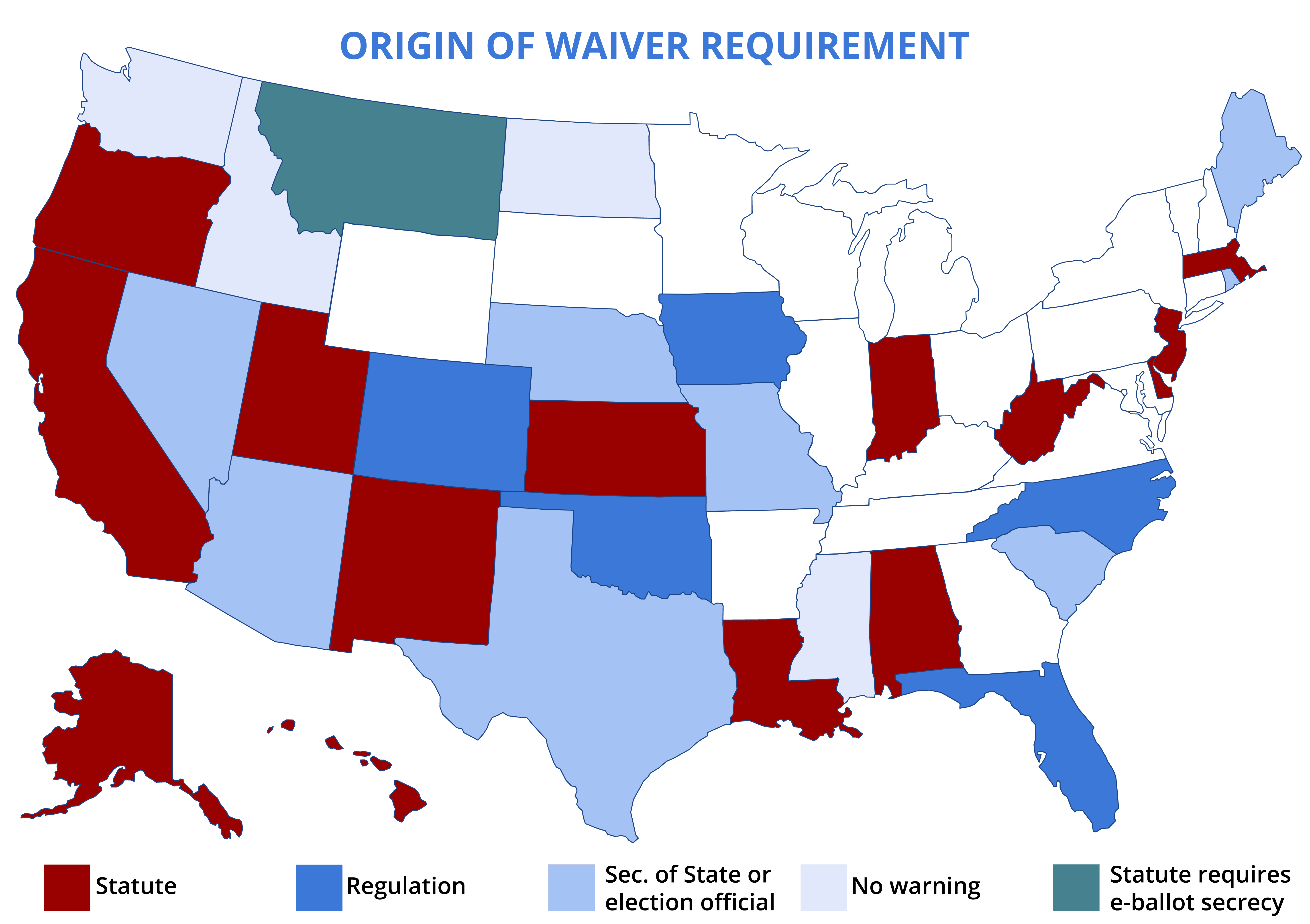 waiver requirement map